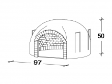 Recessed oven F080
