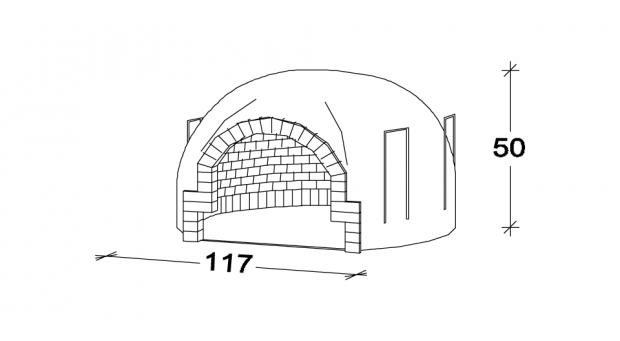 Recessed oven F100
