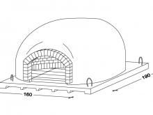 Recessed oven P140L