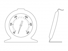 Thermomètre de voûte T010